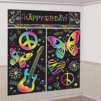 The ultimate guide for throwing an awesome glow in the dark party graffiti wall for glow party both a craft and decoration solutioingenieria Image collections